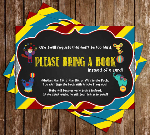 Circus - The Greatest Shower of All - Baby Shower - Book Insert