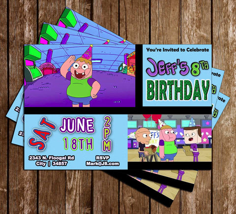 Clarence - TV Show - Birthday Party - Invitation
