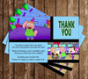 Clarence - TV Show - Birthday Party - Thank You Card