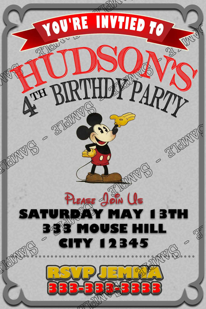 Novel Concept Designs Classic Mickey Mouse Birthday Party