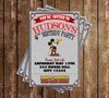 Classic Mickey Mouse - Grey - Birthday Party - Invitation