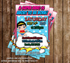 Comic Book - Baby Girl - Baby Shower - Invitation