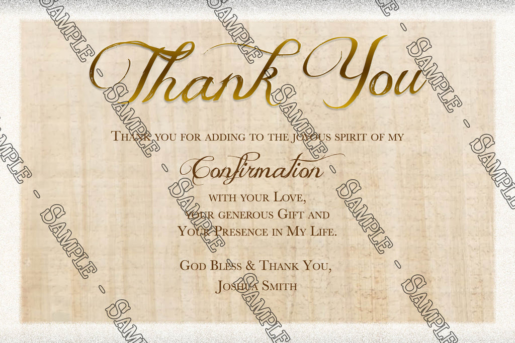 novel concept designs confirmation catholic thank you card