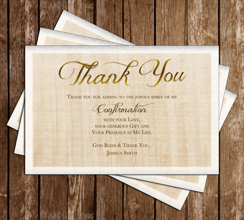 Confirmation - Catholic - Thank You Card