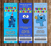 Cookie Monster Birthday Party Ticket Invitation