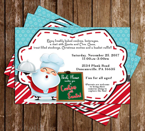 Cookies with Santa Invitation