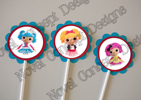 Free Lalaloopsy Birthday Cupcake Topper / Party Favor