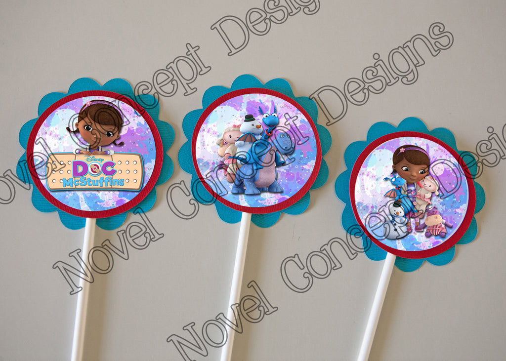 Free Doc McStuffins Birthday Cupcake Toppers/ Party Favor