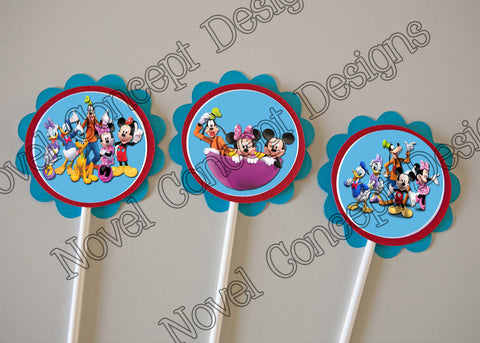 Free Mickey Mouse Clubhouse Cupcake / Party Favor Topper