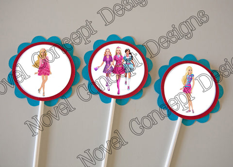 Free Barbie Birthday Cupcake Topper / Party Favor