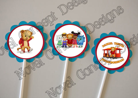 Free Daniel Tiger's Neighborhood Birthday Cupcake Topper / Party Favor