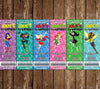 DC Superhero Girls - Ticket Birthday Party Invitation
