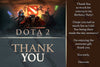 Dota 2 - Video Game - Birthday Party - Invitation
