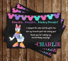 Daisy Duck - Chalkboard Birthday - Thank You Card
