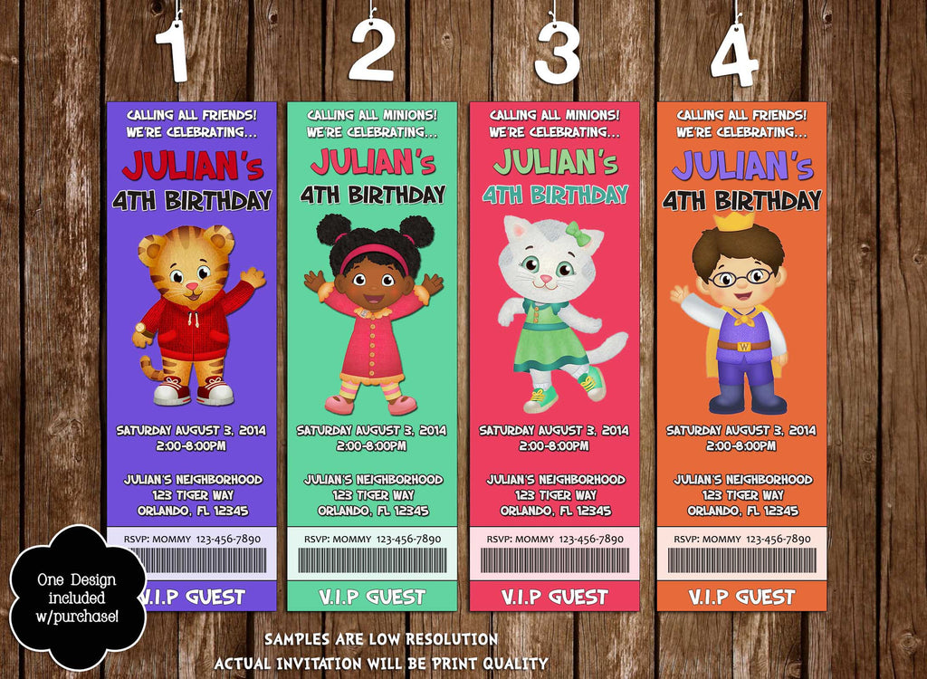 Novel Concept Designs - Daniel Tiger Neighborhood - Birthday Party