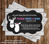Little Buck or Little Doe - Gender Reveal - Baby Shower - Bring A Book Insert