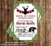 Little Hunter - Oh Deer - Lumberjack - Baby Shower - Thank You Card