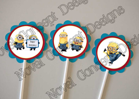 Free Despicable Me Birthday Cupcake Topper / Party Favors