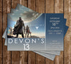 Destiny - Video Game - Birthday Party - Invitation