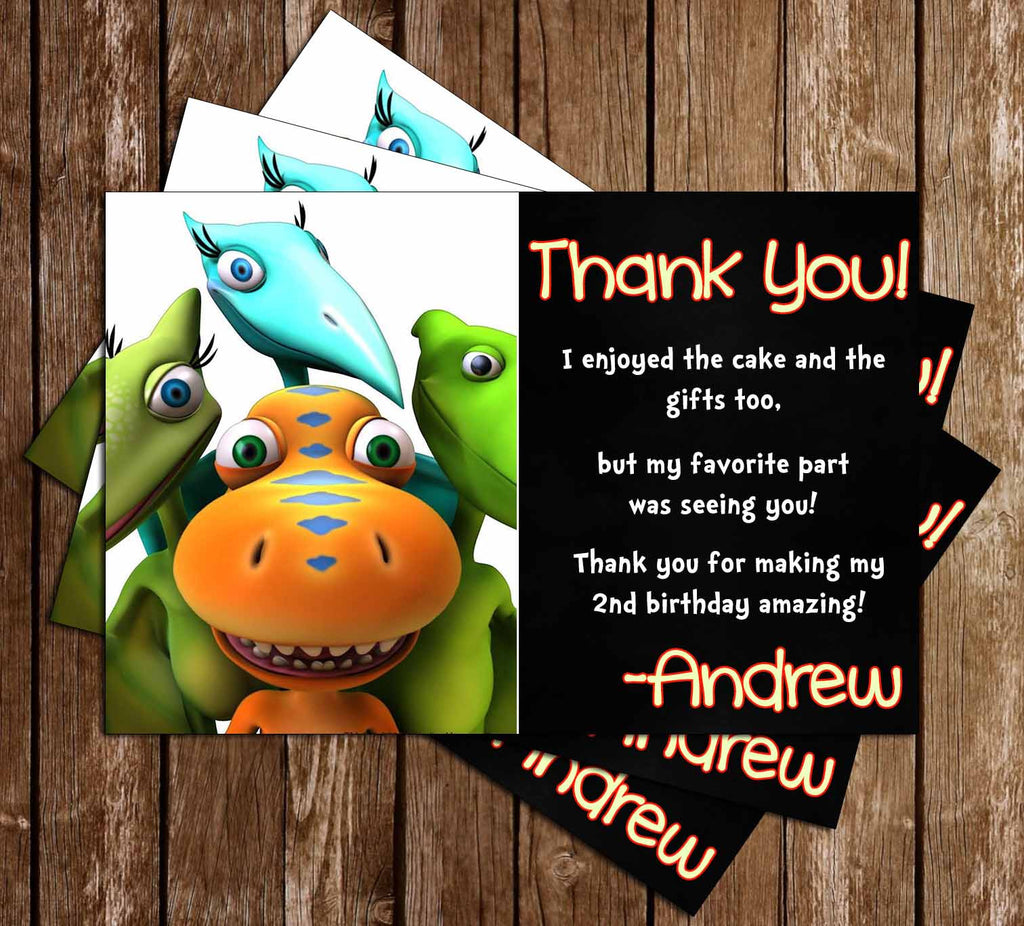 Dinosaur Train Show Birthday Party Thank You Card