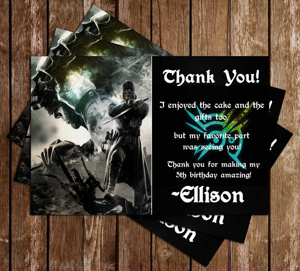 Dishonored Game Birthday Thank You Card