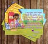 Doc McStuffins - Chalkboard -  Birthday Invitation