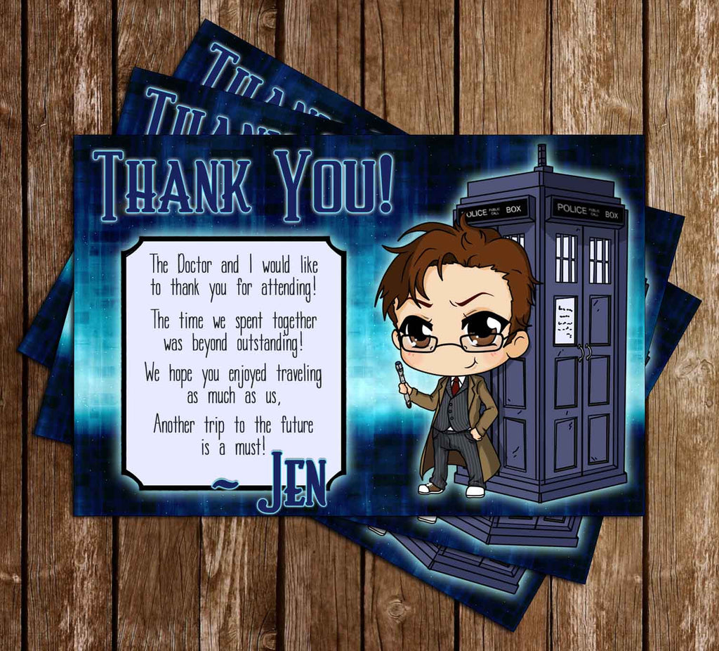 Doctor Who Show Tardis Thank You
