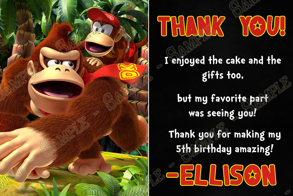Novel concept designs donkey kong video game birthday party ticket donkey kong video game birthday party ticket invitation stopboris Images