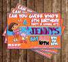 Dora the Explorer - Nick JR - Birthday Party - Invitations