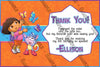 Dora the Explorer - Orange - Birthday Party - Thank You Card