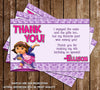Nickelodeon Dora the Explorer Show Birthday Party Thank You Card