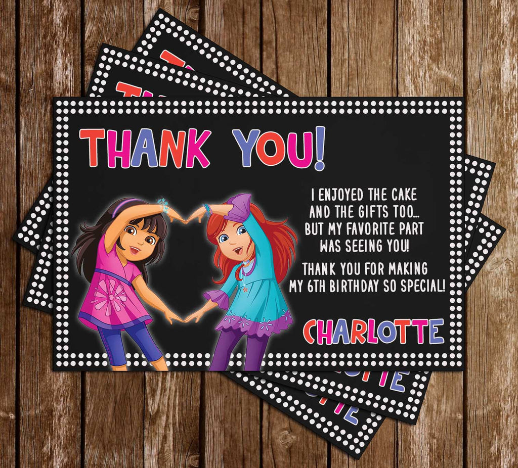 Dora & Friends - Into the City - Birthday Party - Thank You Card