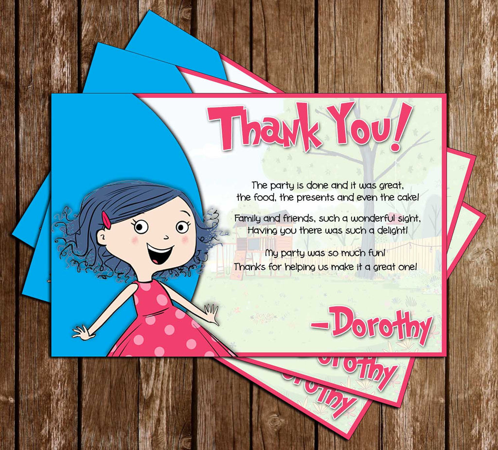 Novel Concept Designs Dot Sprout Birthday Party Thank You – Sprout Birthday Cards