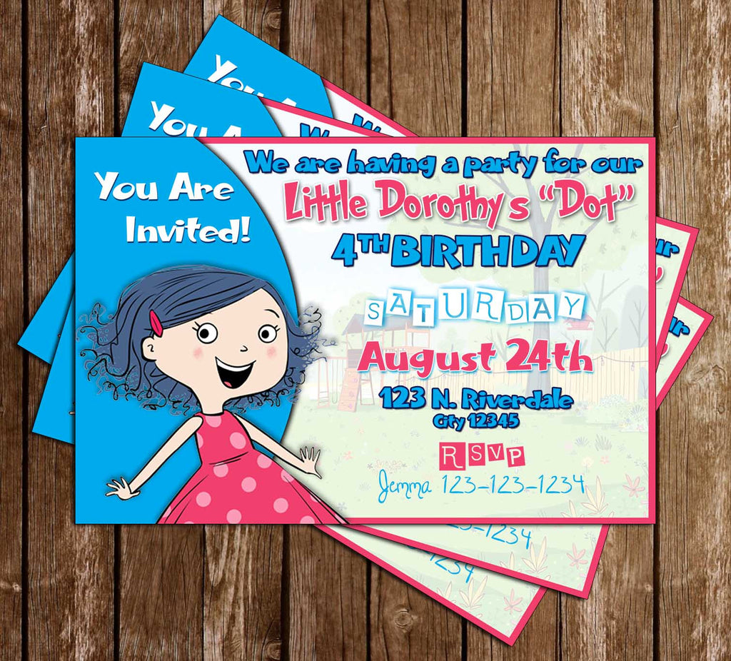 Dot. -  Sprout - Birthday Party - Invitation