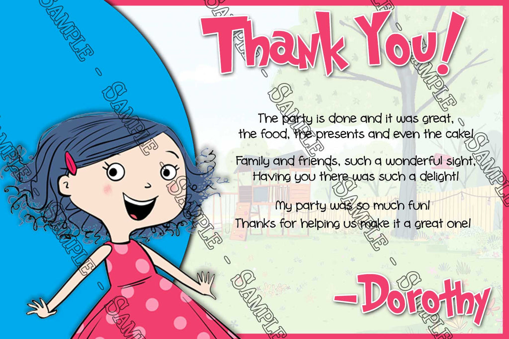 Novel Concept Designs Dot Sprout Birthday Party Thank You Card