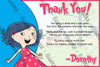 Dot. -  TV SHOW - Birthday Party - Thank You Card