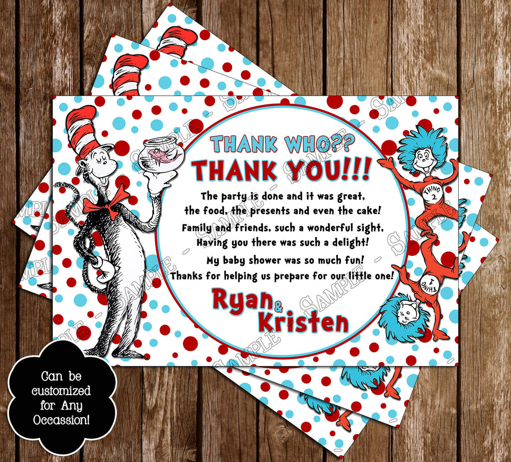 Novel Concept Designs - Cat in the Hat Baby Shower Invitation
