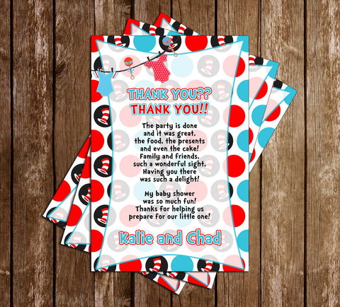 Cat in the Hat - Tall - Baby Shower - Thank You