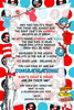 Dr Seuss - Cat in the Hat - Tall - Baby Shower - Thank You
