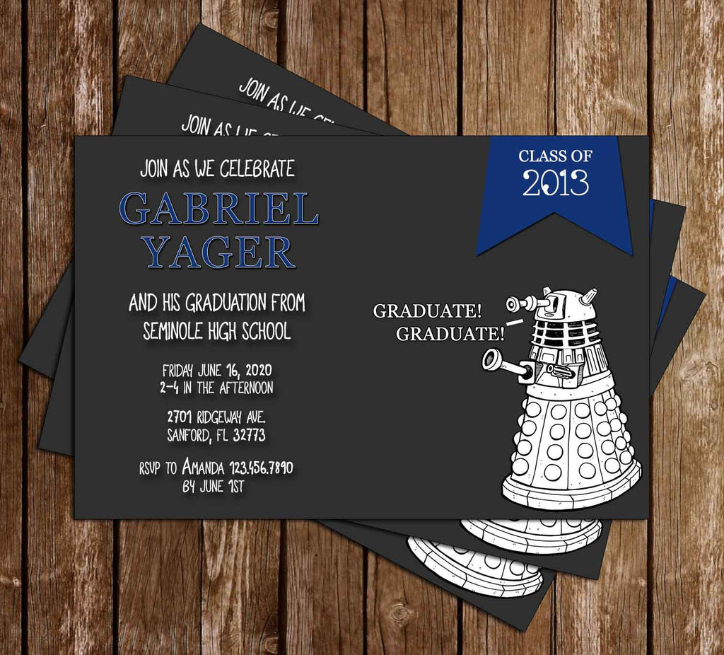 Novel Concept Designs - Doctor Who - Dalek Graduation Invitation ...