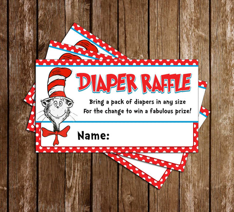 Dr. Seuss - That Bump - Baby Shower - Diaper Raffle Ticket