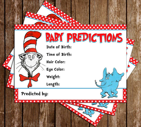 Dr. Seuss - That Bump - Baby Shower - Baby Predictions Card