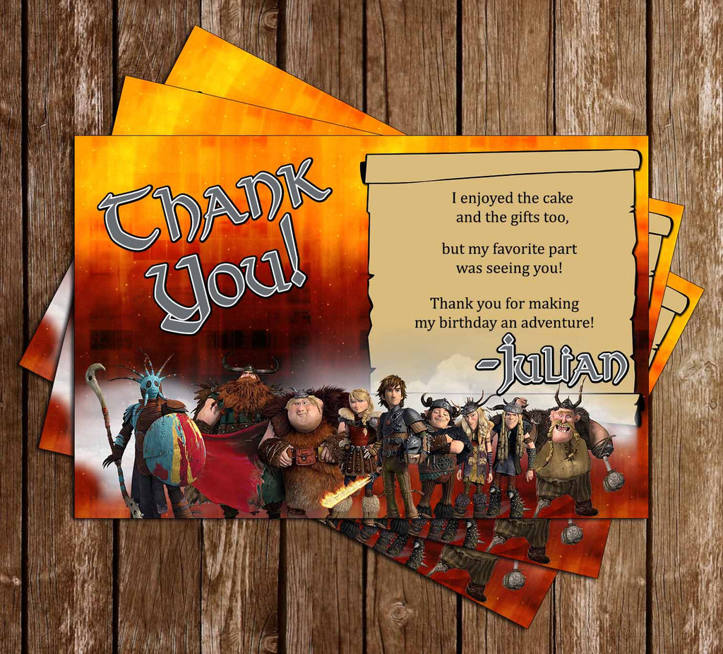 How to Train You Dragon Movie Thank You Card
