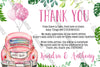Drive Through Baby Shower - Quarantine - Girl - Thank You Card