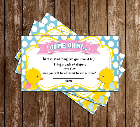Waddle Baby Be? - Duck Gender Reveal- Baby Shower - Diaper Raffle Tickets