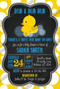 Rub-a-Dub-Dub Rubber Duck Baby Shower Invitation