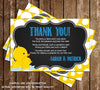Rubber Duck and Baby Duck - Baby Shower - Bring A Book Insert