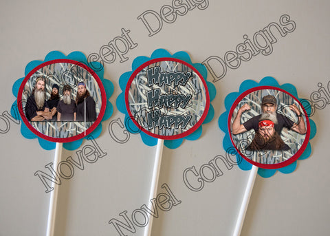 Free Duck Dynasty Cupcake Topper / Party Favor Printable