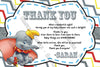 Baby Dumbo the Flying Elephant - Gender Neutral - Baby Shower Thank You Card