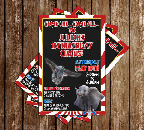 Dumbo - Movie - Birthday Party - Invitation